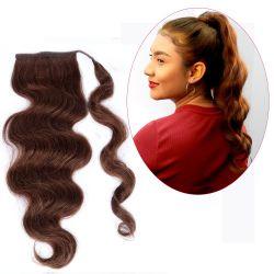Human Hair Velcro Ponytail - Bodywave 18