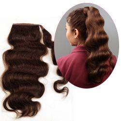 Human Hair Velcro Ponytail - Bodywave-Thick-18