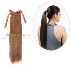 Human Hair Ponytail - Silky Straight 14