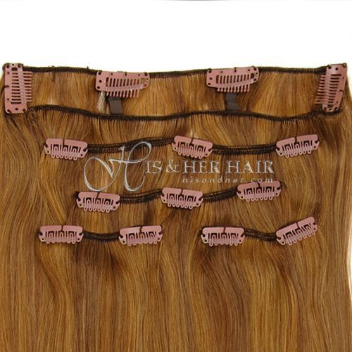 "Clip Set Silky Straight in 18"", 22""  - 5 Pcs."