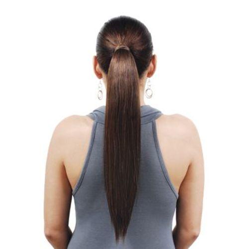 "Human Hair Ponytail - Silky Straight 14"""