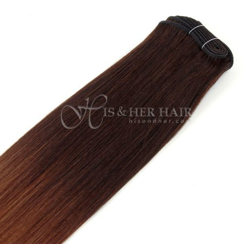 50% Italian Mink®  - Machine Weft Natural Perm Straight Ombre