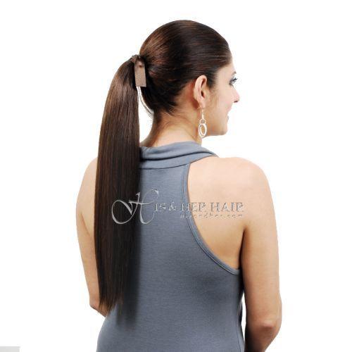 "Ponytail Human Hair - Silky Straight 18"" - Sale"