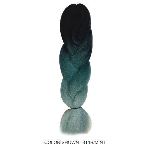 Synthetic Kinky Braids Ombre for Braiding