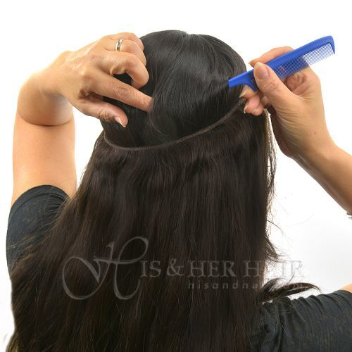 "Magic Extensions in Silky Straight Hair - REGULAR 100% Human Hair -14"""