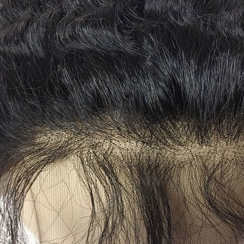 "LACE FRONTAL (4"" X 13"") - 16"" ZIG ZAG CURL WITH BABY HAIR"