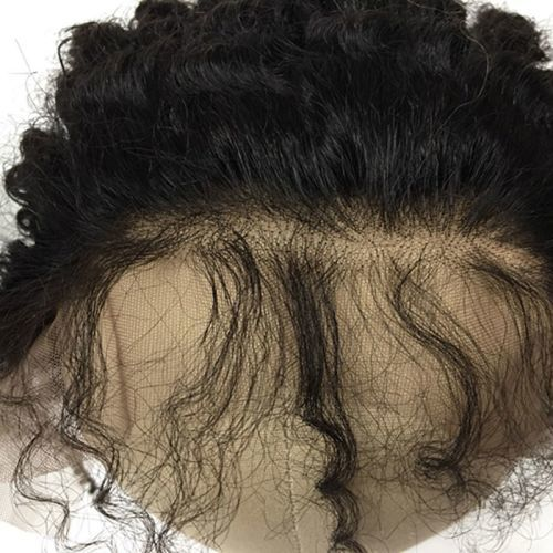 "LACE FRONTAL (13"" x 4"") - 16"" KINKY STRAIGHT  WITH BABY HAIR"