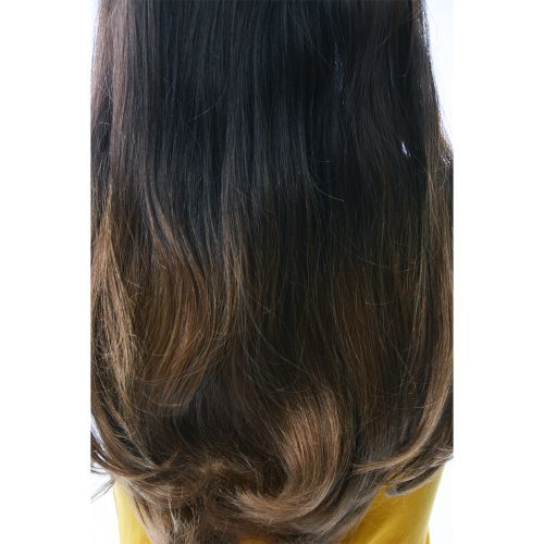 French Bodywave Clip on Set, Color #T2/6, Dark Brown/Light Brown.  100% Human Hair, ITALIAN MINK