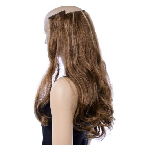 French Bodywave Clip on Set, Color #B5/24, Mixed Brown.  100% Human Hair, ITALIAN MINK