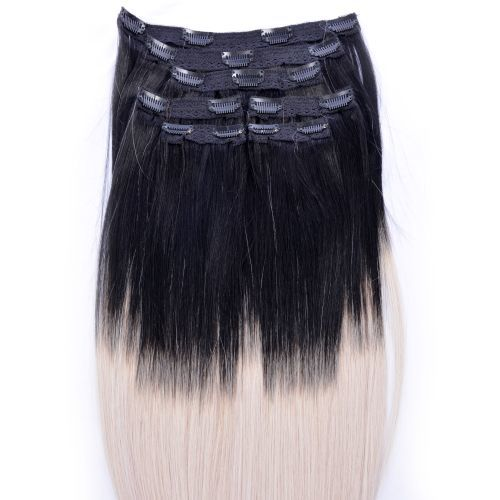 """Clip Set Silky Straight in 18"""" - 7 Pcs."""