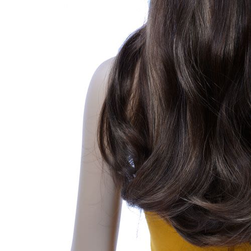 French Bodywave Clip on Set, Color #B2/4/12, Dark Brown / Med Brown / Golden Light Brown.  100% Human Hair, ITALIAN MINK®