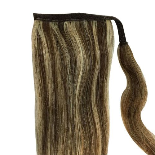 Human Hair Velcro Ponytail - Silky Straight 16""