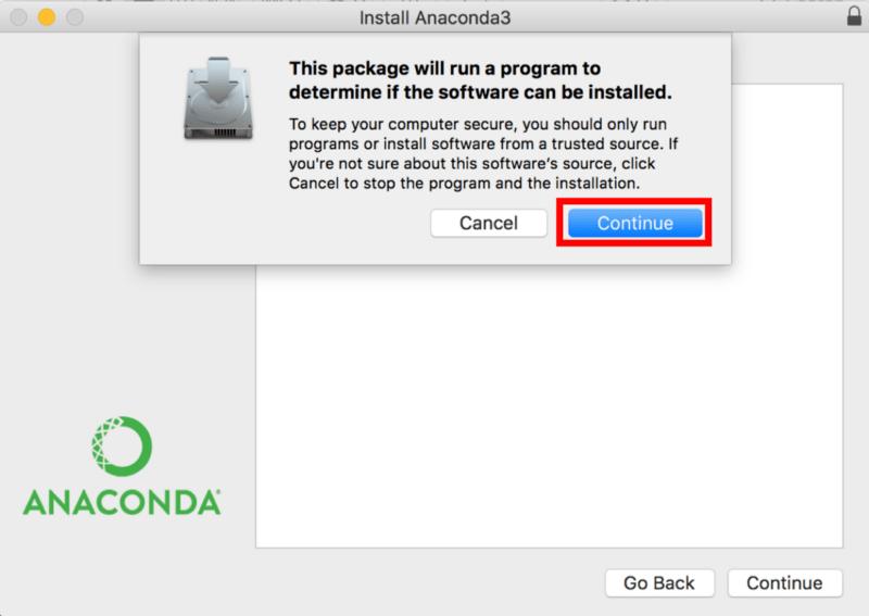 pip install anaconda mac