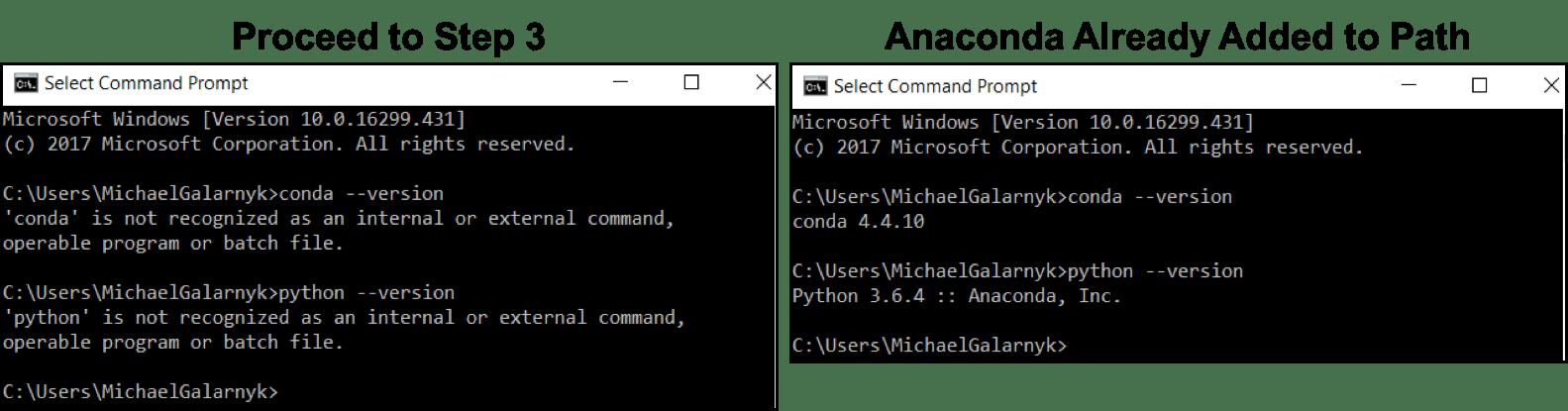 anaconda python 2.7 windows