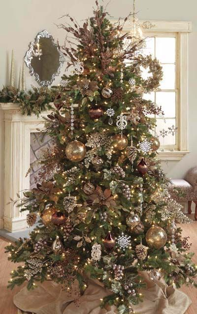 Christmas tree brown ornaments