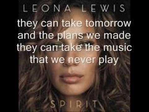Lirik lagu yesterday leona lewis