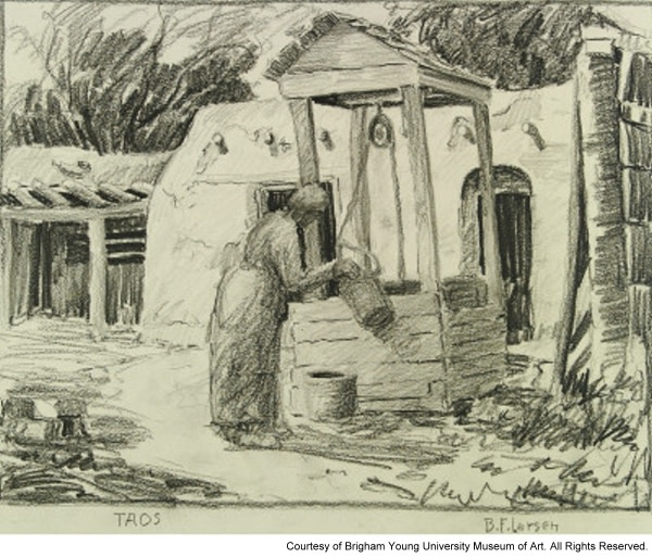 Taos Woman by Well