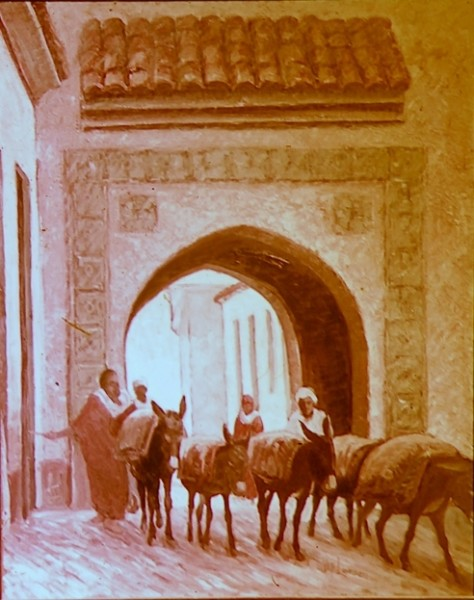 The Mule Train at Fez