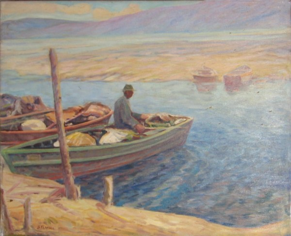Lone Fisherman at Strawberry Lake