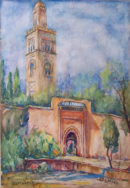 Entrance to Mosque Gardens