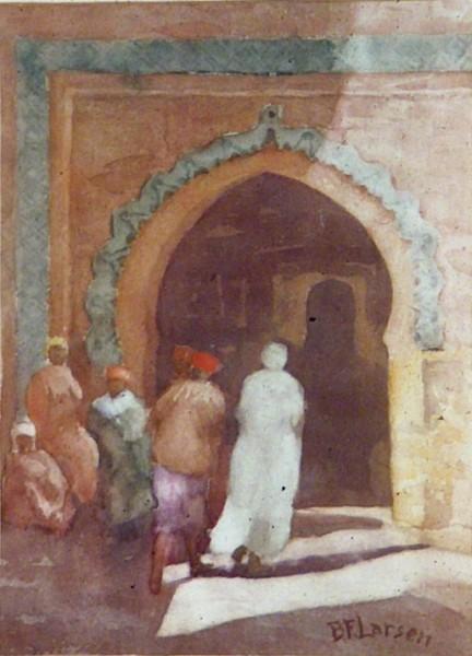 An African City Entrance