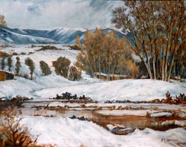 Provo River in Winter