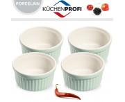 Набор керамических форм для духовки и морозильника, 4 шт, D 10 см, цвет зеленый, Kuchenprofi, Германия