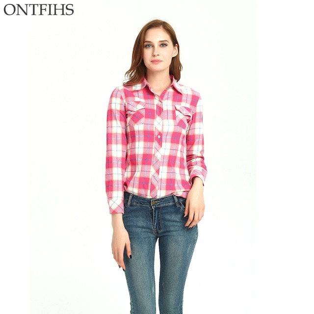 Pink plaid tunic