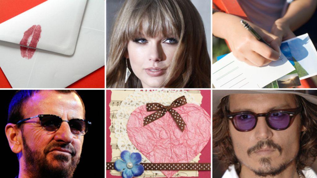 Celebrities fan mail