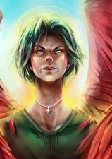 Картинки Ангелы Взгляд Голова