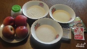 Яблочный пирог манка