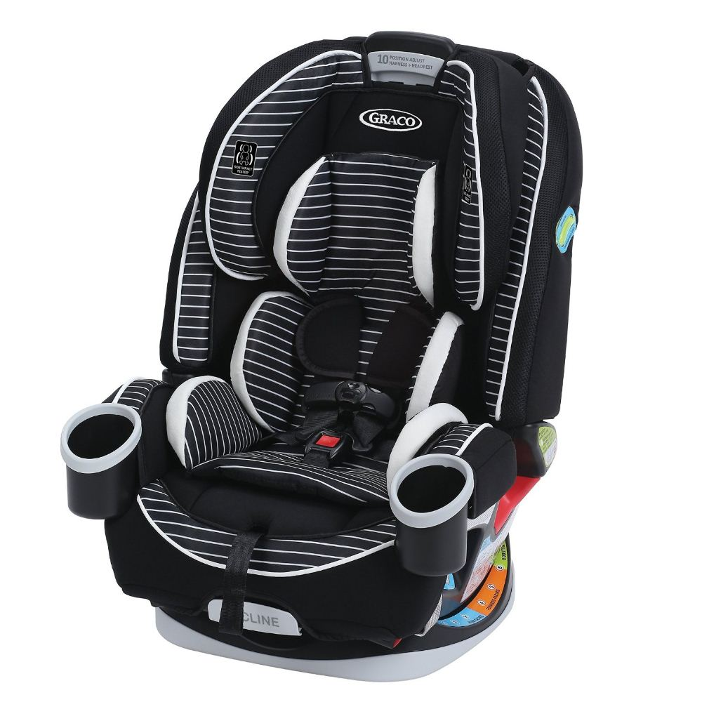 Graco black and pink car seat