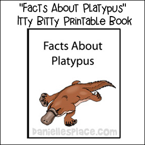Platypus Printable Book from www.daniellesplace.com