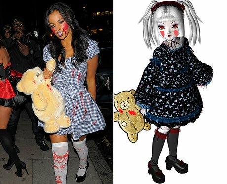 Dead female celebrities costumes
