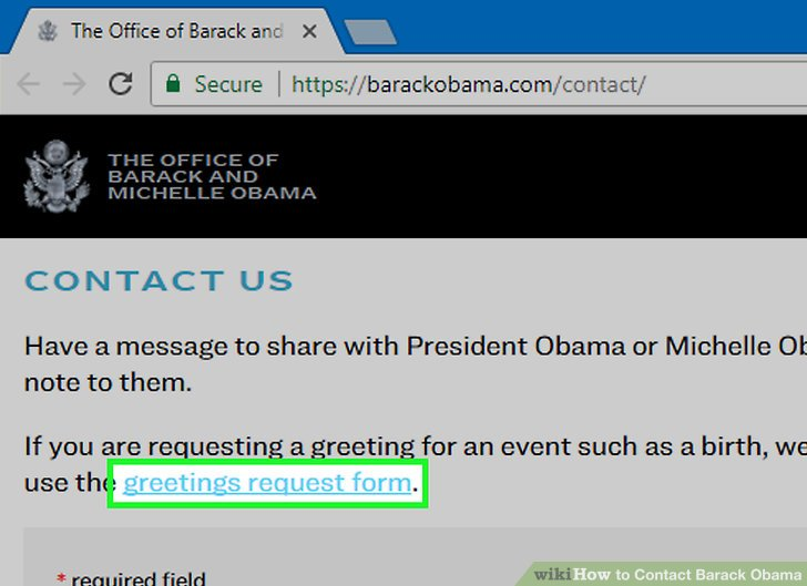 Image titled Contact Barack Obama Step 3