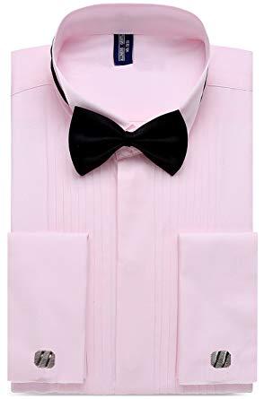 Mens pink tuxedo shirt