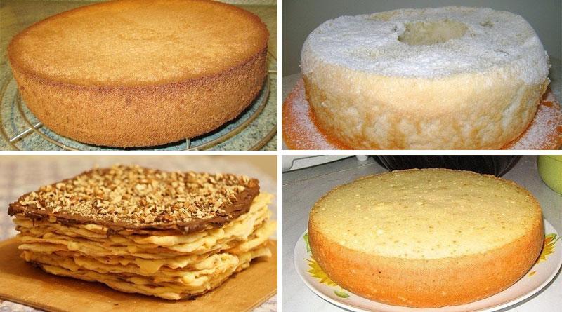 Коржи для торта простые