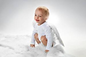 Картинки Ангелы Мальчики Улыбка Дети