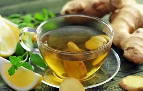 Фото: чай с имбирем и лимоном быстрого приготовления