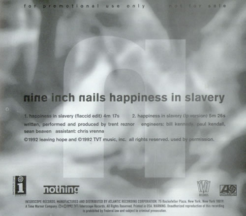Nine inch nails happiness in slavery l