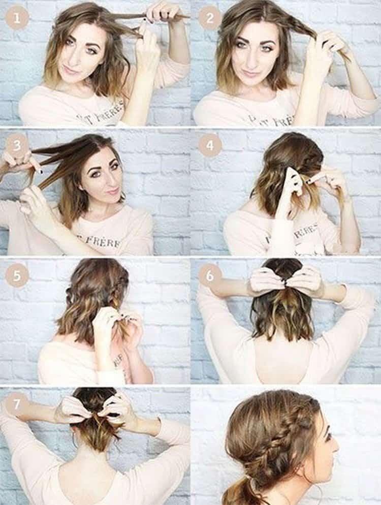 А такую прическу на волосы до плеч можно сделать, если вы собираетесь на свадьбу.