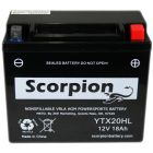 YTX20HL-BS Scorpion 12v 320 CCA Sealed AGM Motorcycle Battery