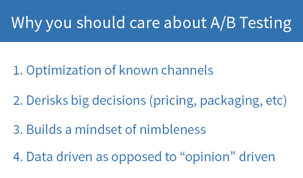 Why you should care about a/b testing