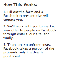 Facebook Deals Monetize