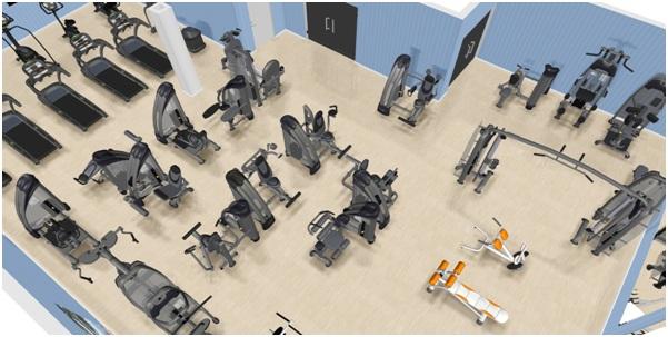 Планировка тренажерного зала схема