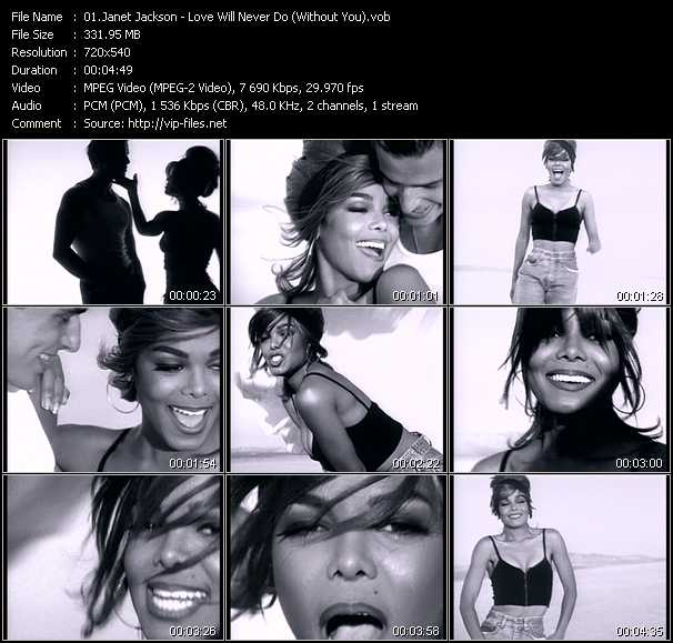 Janet jackson love will never do without you music video