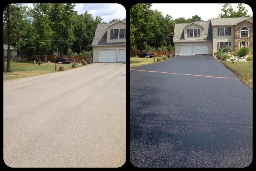 Oil based driveway sealer