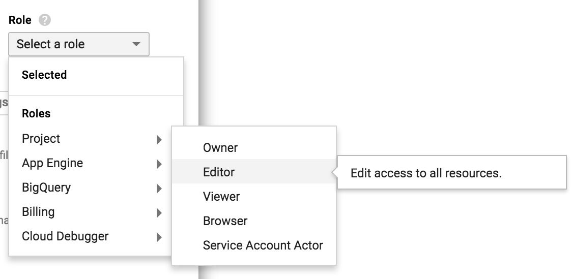 Select Editor and Actor