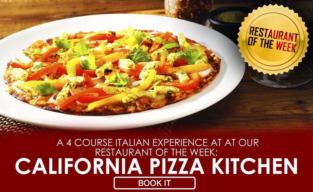 A 3 COURSE ITALIAN EXPERIENCE AT CALIFORNIA PIZZA KITCHEN, DELHI