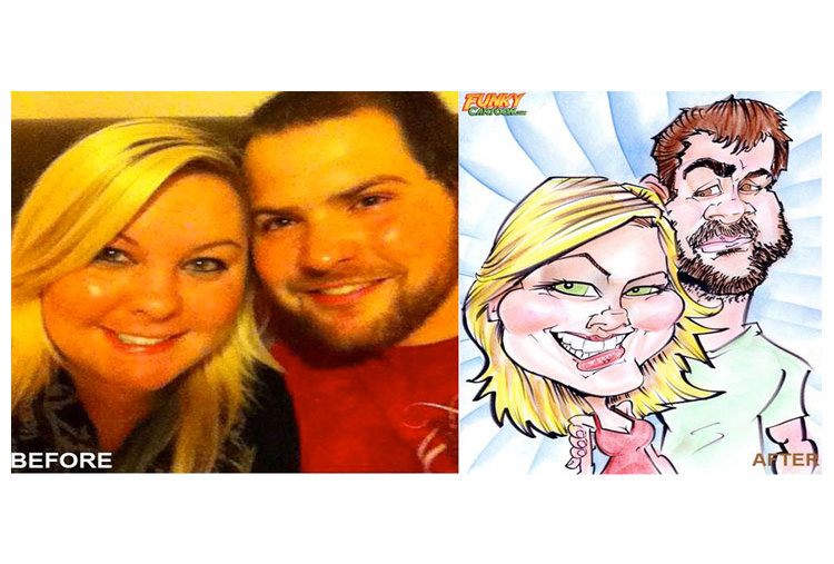 COUPLE CARICATURE BY GRAPHICURRY